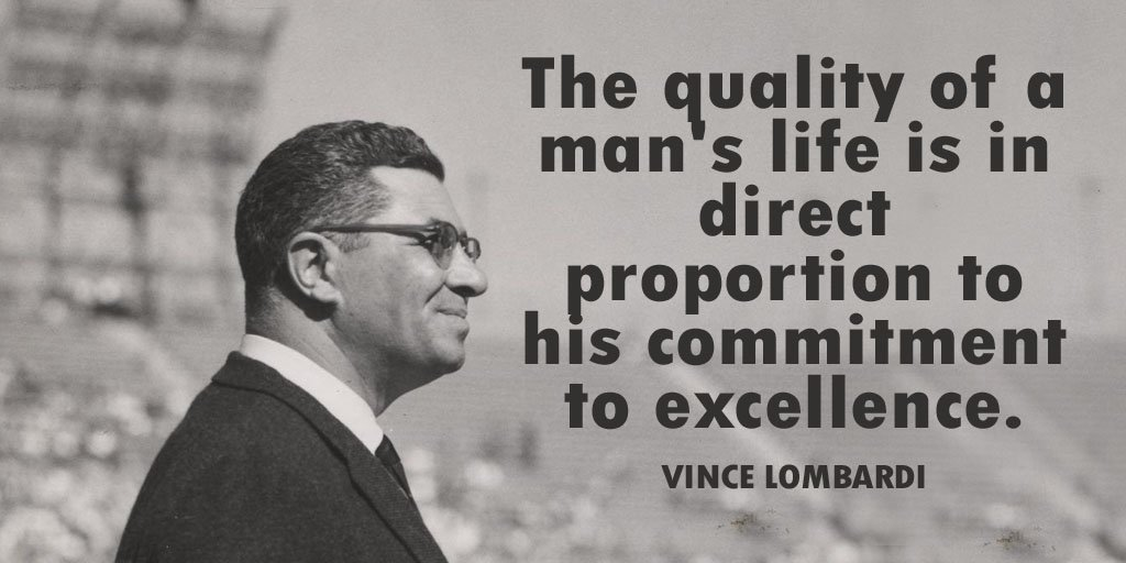 """Quote: """"The quality of a man's life is in direct proportion to..."""""""